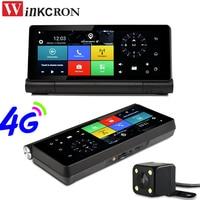 7 дюймов Видеорегистраторы для автомобилей gps навигации 4G SIM Android 5,0 WiFi Bluetooth телефона панель gps Двойной объектив FHD1080P 16 ГБ заднего вида Камера