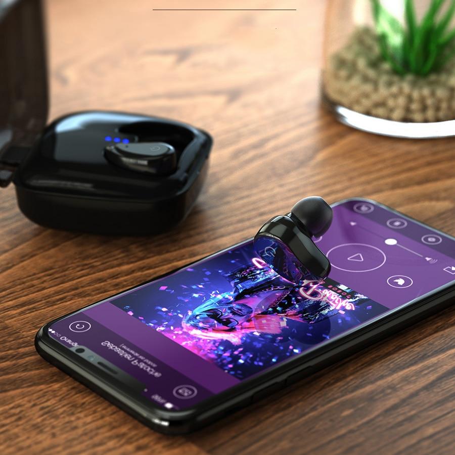 TWS Bluetooth slušalice, GUSGU mini bežični sportski slušalice / - Prijenosni audio i video - Foto 3
