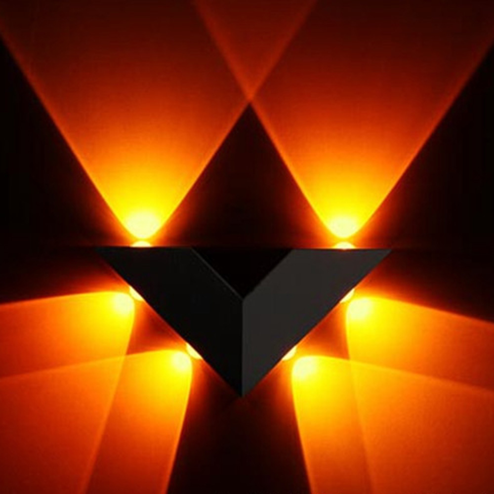 Moderne Wandleuchte V Form Aluminium Dreieck 6 Watt AC85 265V Für ...