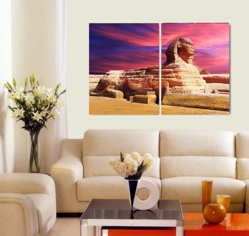 Strange Us 11 7 10 Off 2 Pieces Modern Painting Wall Poster Egypt Sphinx On Oil Painting Canvas For Living Room Decor And Wall Art Poster In Painting Andrewgaddart Wooden Chair Designs For Living Room Andrewgaddartcom