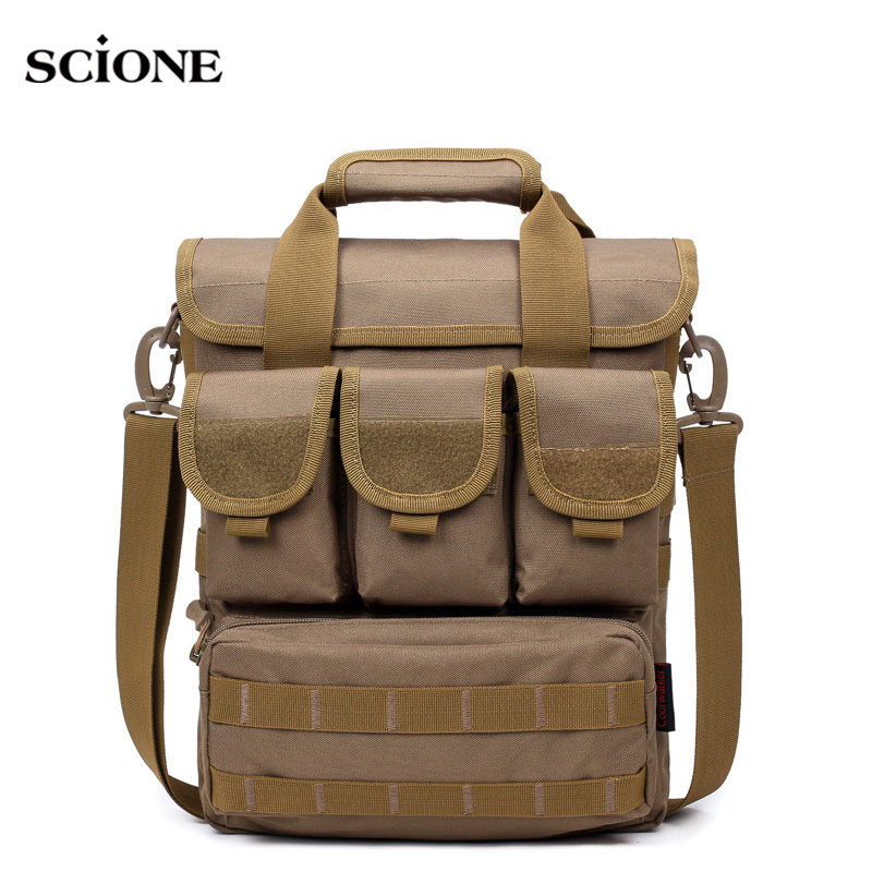 Men Outdoor Tactical Bag Molle Messenger Bags Military Camouflage Single Shoulder Belt Sack For Sports Toolkit Handbag XA158WA
