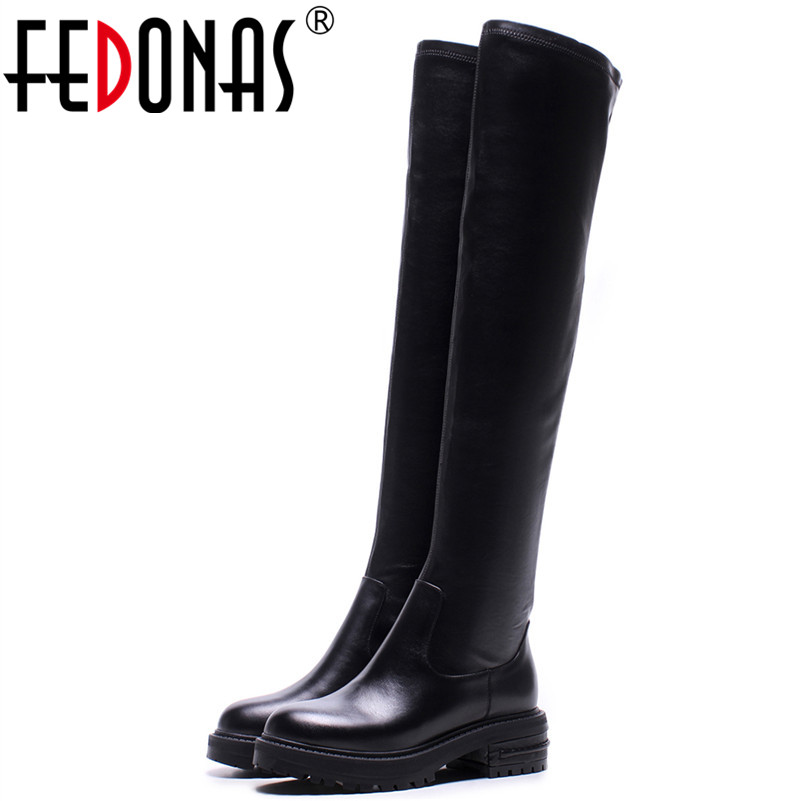FEDONAS 1New Arrival Women Over The Knee Boots Autumn Winter Warm High Heels Shoes Sexy Night Club Genuine Leather Shoes WomanFEDONAS 1New Arrival Women Over The Knee Boots Autumn Winter Warm High Heels Shoes Sexy Night Club Genuine Leather Shoes Woman