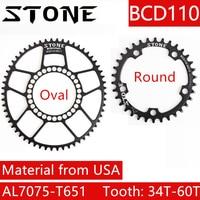 Stone 110 BCD Chainring aero narrow wide Round Oval single 34T 36 38 40 42 44 46 48 58T MTB Bike Chainwheel 5800 6800 4700 9000