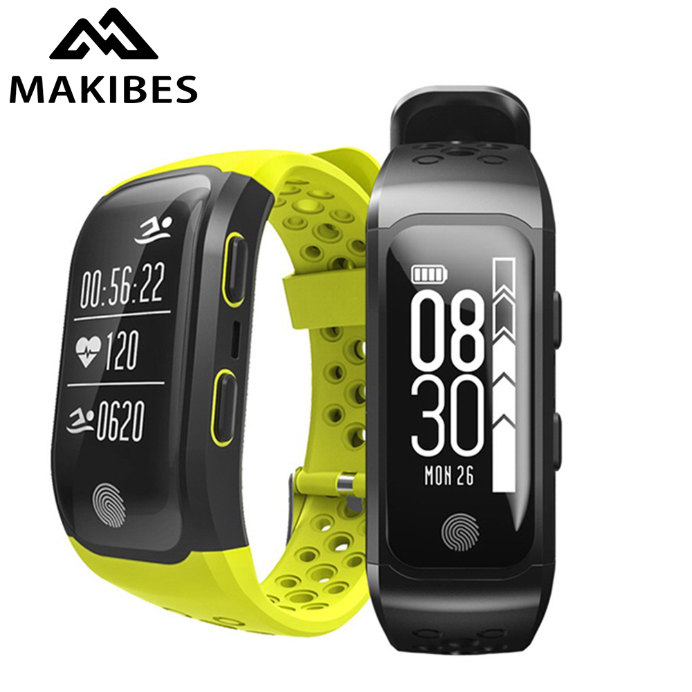Makibes G03 men's Bracelet IP68 Waterproof Smart Band Heart Rate Monitor Call Reminder GPS S908 Sports Bracelet image
