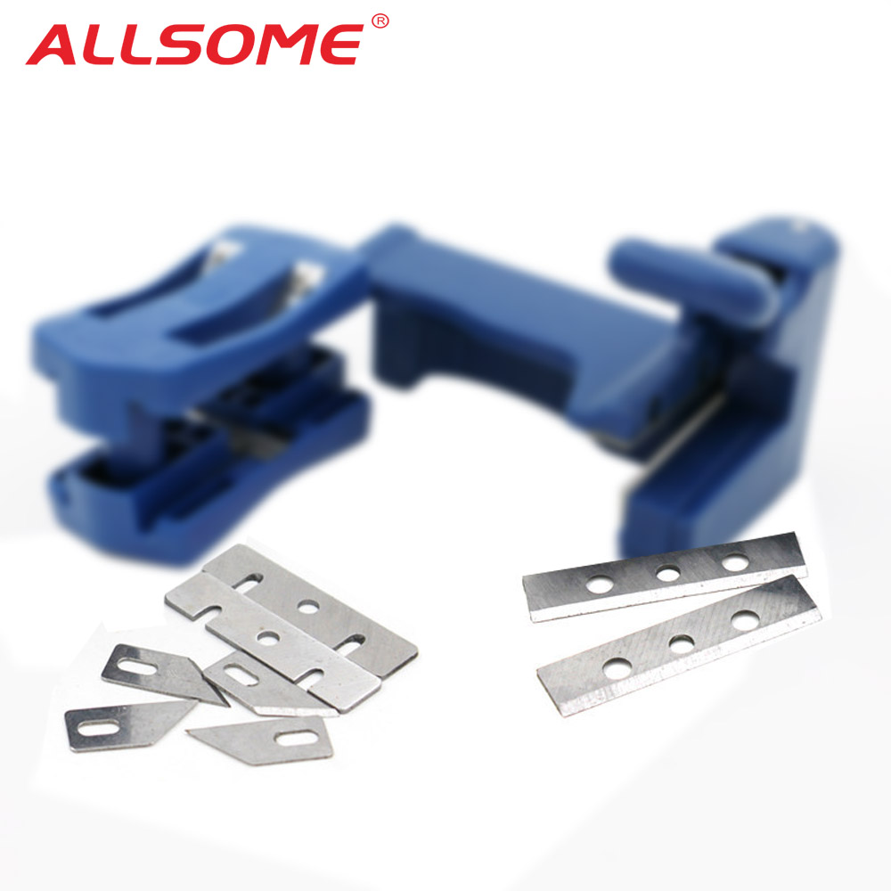 ALLSOME Double Edge Trimmer Banding Machine Set Wood Head And Tail Trimming Blades HT2442-2443+