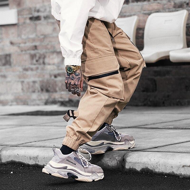 2020 Spring New Joggers Men Casual Cotton Cargo Pants Solid Streetwear Mens Joggers Pants