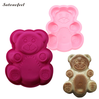 Bear Shape Silicone Mold Cake Baking Maker 28cm 3D Pastry Jelly Moulds Baking Pan Cake Pastry Bakeware Tool