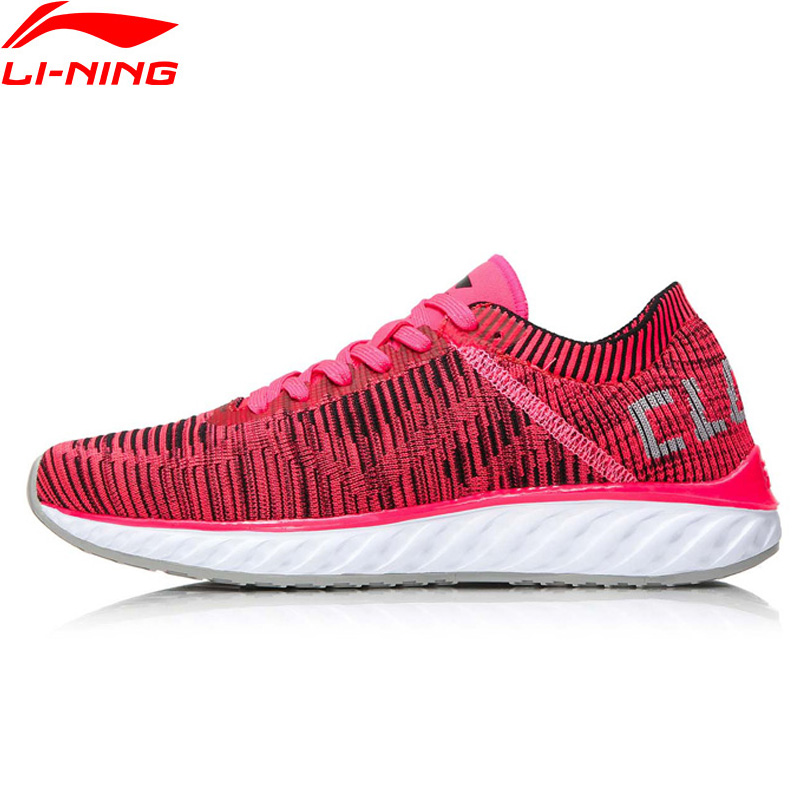 Li-Ning Women LN Cloud IV Running Shoes Professional Breathable LiNing Sneakers MONO YARN Comfort Sports Shoes ARHM034 XYP542 li ning classic womens running shoes lining light woman s sneakers footwear breathable gym sports shoe chaussure femme sport