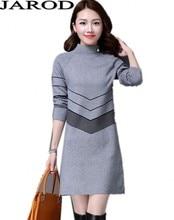 Fashion Women Warm Knitted Sweater font b Dresses b font Autumn Winter Female Half Turtleneck Long