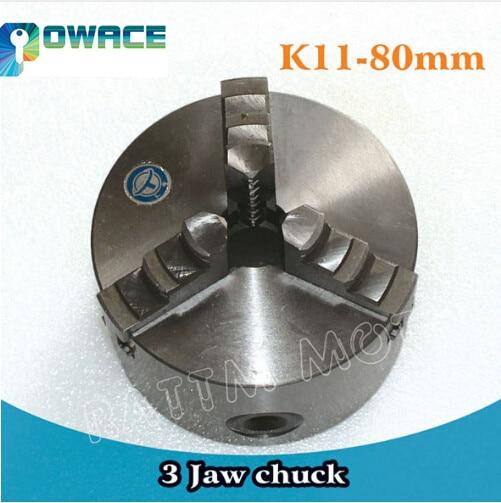 [EU Ship] 3 Jaw K11-80mm / 4 Jaw K12-100mm Manual self-centering Chuck CNC Machine tool Lathe Chuck