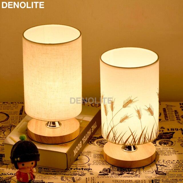 DENOLITE Eenvoudige Stof Tafellamp Dimbare Linnen Tafel Lampen ...