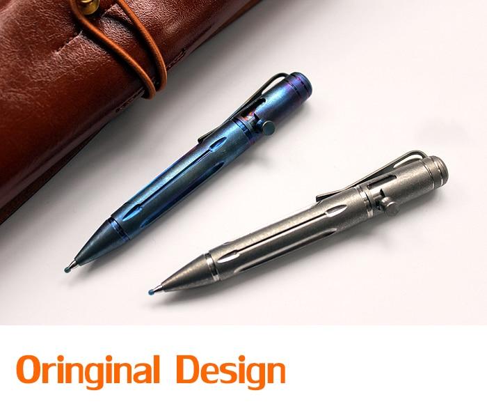 New! Mini Portable TC4 Titanium Alloy Tactical Pen Self Defense Military Tool Keychain Pen Survival Emergency EDC Outdoor Tools|Crowbars| |  - title=