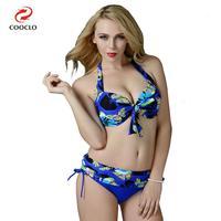 Large Size Bikinis Set Russia Women Swimsuit Floral Print Plus Size Bikini Sexy Bikini Women Vintage