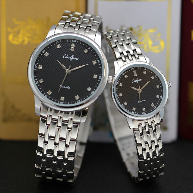Onlyou Luxury Brand Ladies Dress Watches Women Men Quartz Watch With Diamond Steel Gold Wristwatch Male Female Clock Watch 8897