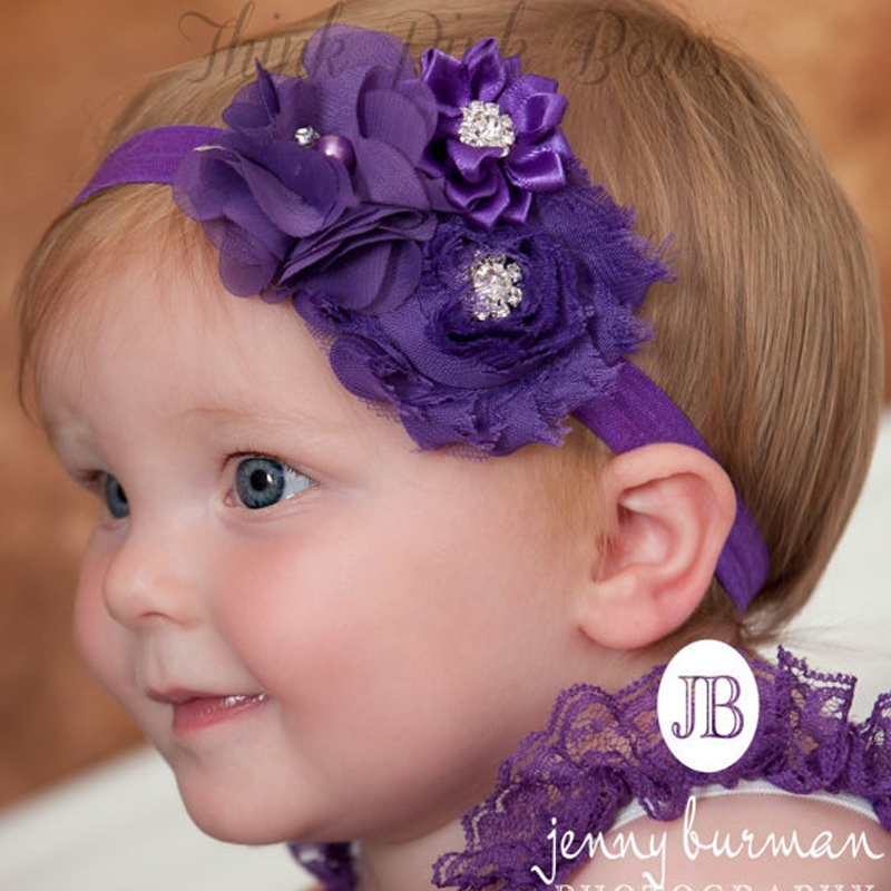 Christmas Gift Baby Flower Headband Solid Color Girl Children Infant Baby Hairband Hair Accessories Elasticity w049 hot sale baby girl elastic hairband children hair wear for kids head band flower headband baby hair accessories