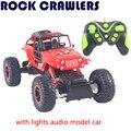 RC Автомобиль Для Восхождения Cars 1:12 4WD 2.4 ГГц Рок Сканеры 4x4 Bigfoot Двойные Двигатели Внедорожник с огнями аудио модель автомобиля 20 Км/ч