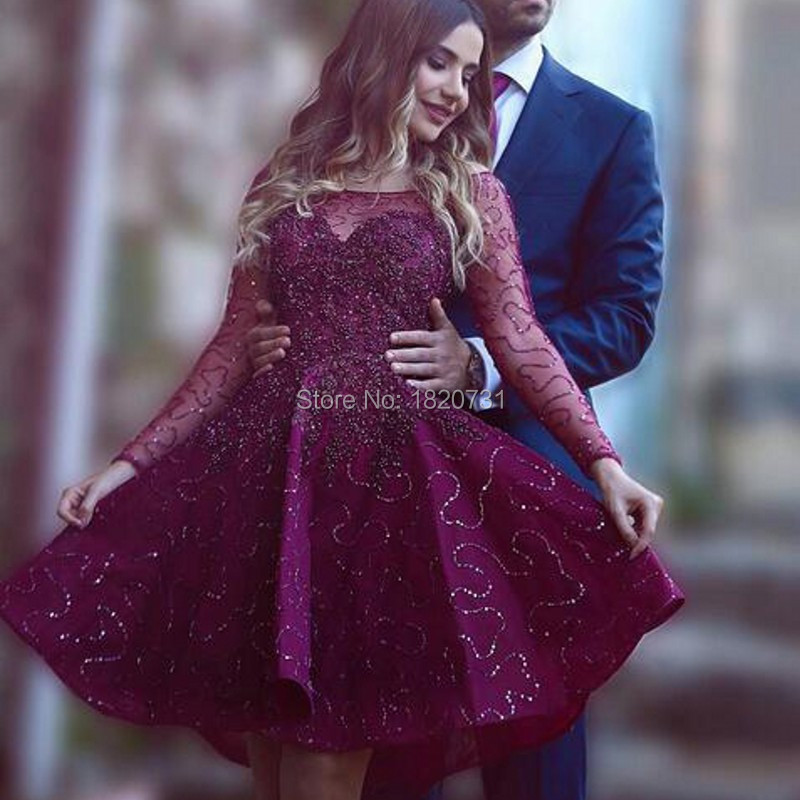 Luxury Short Engagement Party Dresses Shiny Sequins Beads Cocktail ...