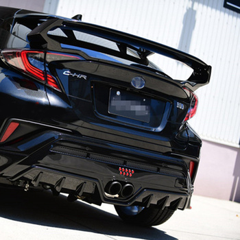 For Toyota CHR C-HR 2016 2017 2018 2019 Auto ABS Plastic Unpainted Color Rear Trunk Boot Wing Spoiler Car Accessories