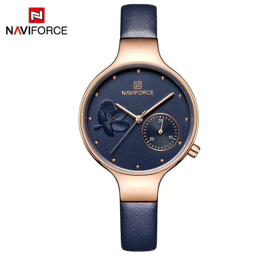 b3c96ff75a7 Naviforce women watches luxury brand leather belt ladies quartz wrist watch  women watches sport relogio feminino