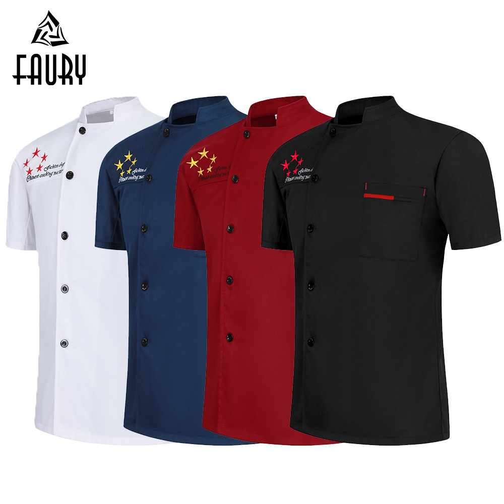 Wholesale Chef Shirt Kitchen Restaurant Uniform Dessert Coffee Shop Men Women Ladies Chef's Jacket Hotel Barbershop Work Clothes