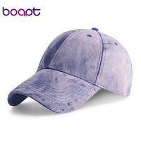 Boapt Solid Color Men S Baseball Cap Cotton Fashion Spring Summer Female Hat Women Caps