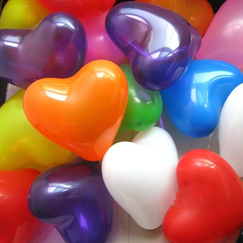 HAOCHU 20pcs 2.2g 10inch Latex Balloon Mariage Birthday Party Aniversario Decorations Air Ballons Love Heart Shape Bola Kid Toys