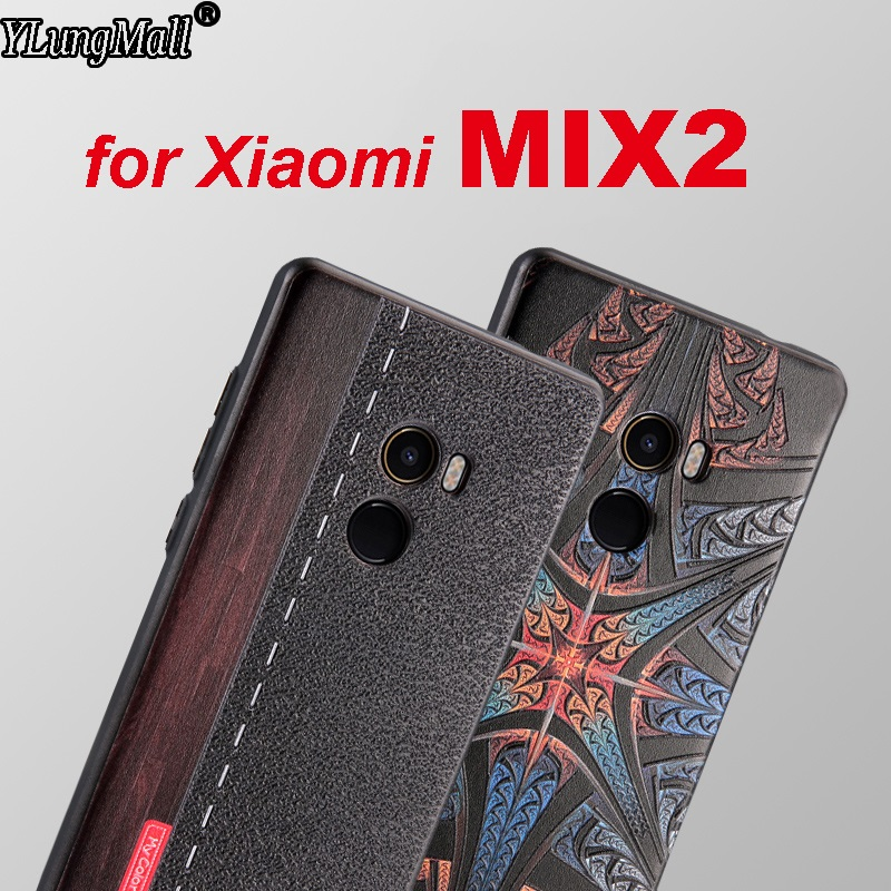 3D Relief Case for Xiaomi Mi Mix 2 Mix2 Cover Soft Silicone Rubber Protector Cases Flower Spiderman Ironman Captain America Case