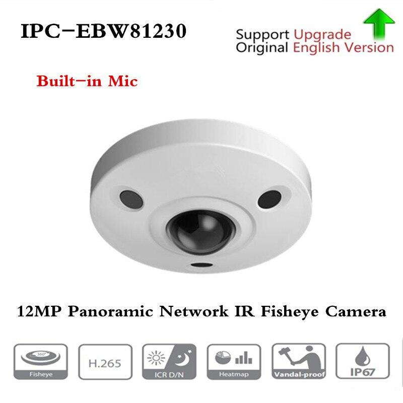 D'origine ahua IPC-EBW81230 12MP Panoramique Réseau IR appareil photo fisheye H.265/H.264 3DNR AWB AGC BLC IP67 IK10 PoE