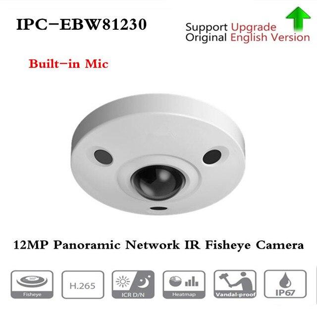 Dahua IPC EBW81230 12MP réseau panoramique IR caméra Fisheye H.265/H.264 3DNR AWB AGC BLC IP67 IK10 PoE