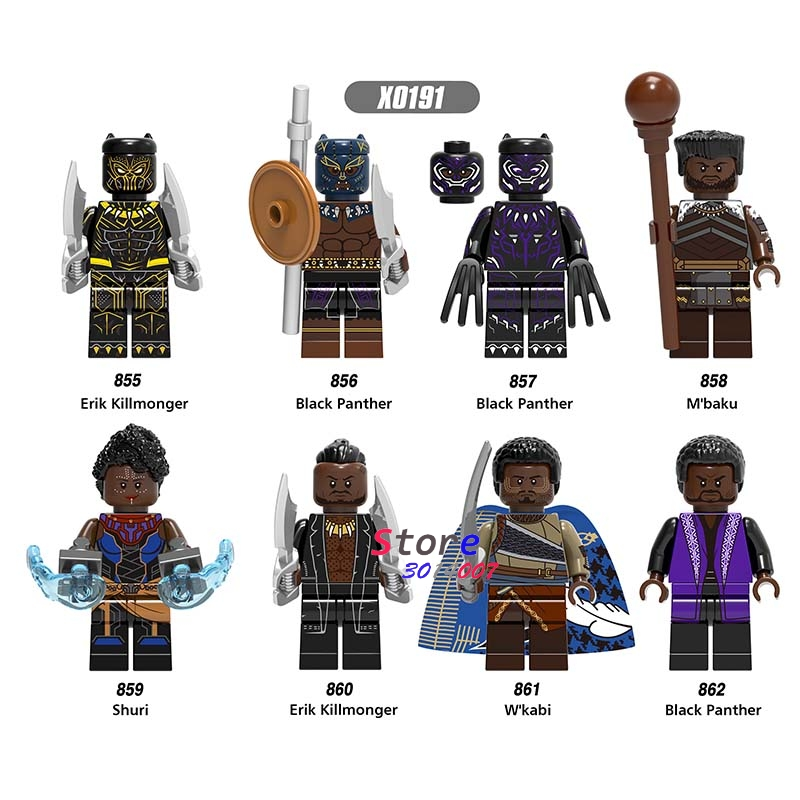 Model Building Intelligent 50pcs Marvel Avengers Infinity War Erik Killmonger Superman El Dorado Lobo Spiderman Boomer Ang Building Block For Children Toys