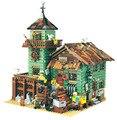 Старый отделочный магазин 2049 шт. Модель Строительство наборы Совместимость с lego Кирпич MOC серии комплект Детские развивающие