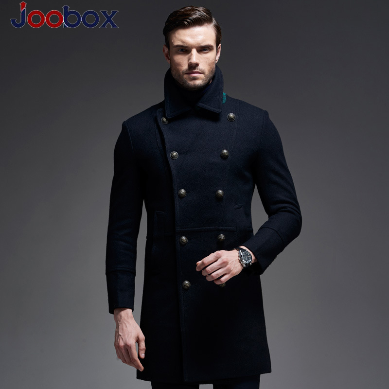 Mens Coats Business-Style Black Winter Casual Xxxl Thicken Long Puls-Size High-Quality