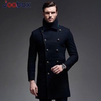 Luxo 2018 Inverno Longo Engrossar Mens preto Puls tamanho xxxl Peacoat Casaco Casuais Estilo de Negócios de Alta Qualidade Dos Homens de Casacos Sobretudos