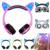 Teamyo gato oreja auriculares auriculares plegable brillante auricular con la luz del led para el teléfono móvil pc mp3 niñas audifonos