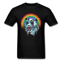 Classic T-Shirts Zombie Panda Casual T-shirts Retro Mens Tops Tees 2018 New Arrival & Plus Size 3XL USA Tshirts