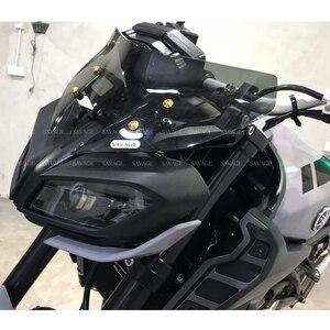 Image 5 - 2020 Windshield Pare brise For YAMAHA MT 09 MT09 MT 09 FZ09 FZ 09 2017 2019 Motorcycle Accessories Windscreens Wind Deflectors
