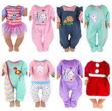 18 Inch United States Girl Doll Clothes Fit 43cm Baby Doll Jumpsuit Plush Crawling Clothes Children Best Gift Baby Doll doll clothes accessories white down jacket fit 18 inch american girl doll clothes best gift for