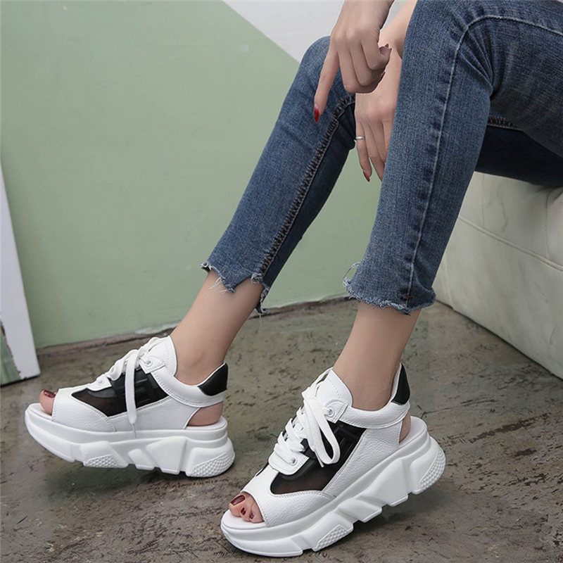 2019 Outdoor Non-Slip Flat Shoes New Fashion Platform Shoes Casual Shoes Womens Fishnet Mesh Sandals Ulzzang Sneakers Walking2019 Outdoor Non-Slip Flat Shoes New Fashion Platform Shoes Casual Shoes Womens Fishnet Mesh Sandals Ulzzang Sneakers Walking