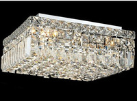 Crystal Ceiling Light Fixture Modern Ceiling Light 120V 220V Chrome Ceiling Light Lighting Lamp Guaranteed 100