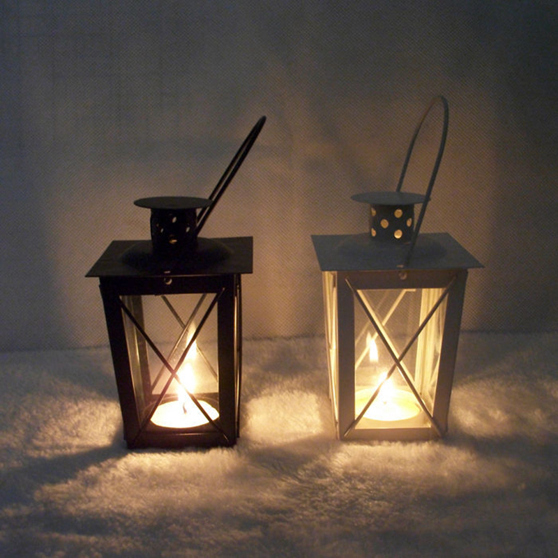 Dual use hook detachable Metal Candle Holder Candlestick Tealight Hanging Lantern Garden Decor Vintage Candlesticks Decorate image