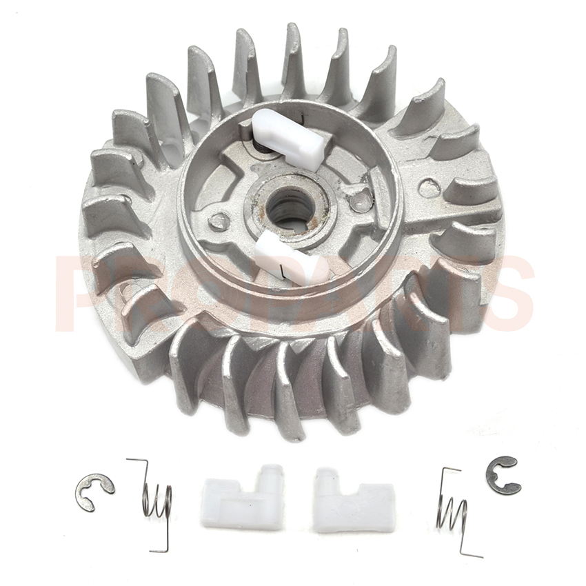 Plastic Pawl Chainsaw Flywheel Fit For 4500 5200 5800 45CC 52CC 58CC Petrol Chain Saw Spare Parts 4500 5200 5800 45cc 52cc 58cc chinese chainsaw damper spring shock buffer set