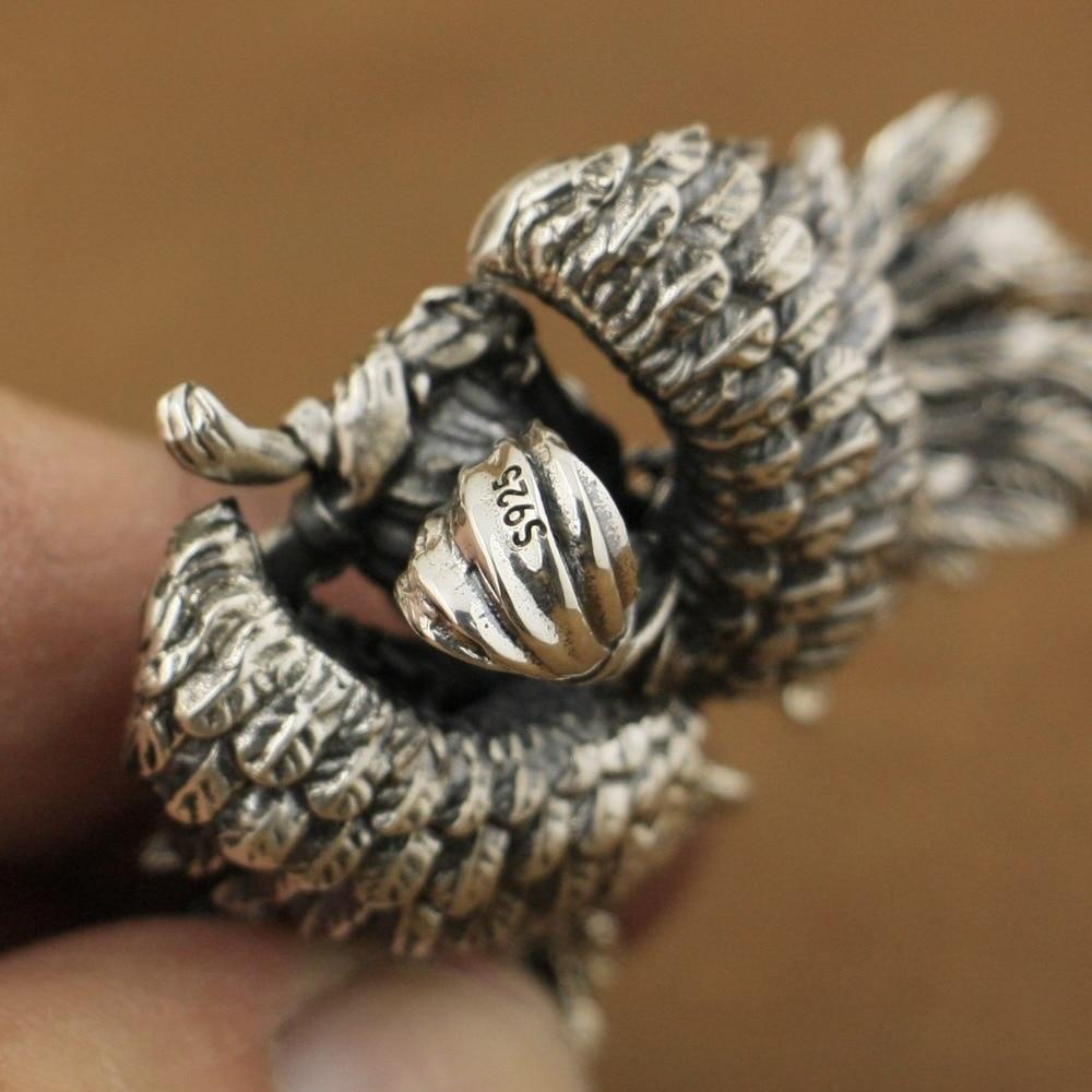 Image 5 - LINSION haute détail 925 pendentif andromède en argent Sterling pendentif ange motard Sexy TA82-in Pendentifs from Bijoux et Accessoires on AliExpress