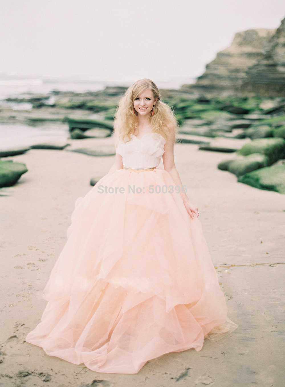 peach color a line wedding dress 2015 novia spaghetti strap sleeveless floor length long beach wedding gown bridal dress
