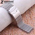 18mm 20mm 22mm 24mm New Mens high quality stainless steel SHARK mesh bracelet Diving Replacement Watchband