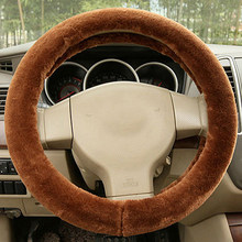 35 36 37 38 39 40CM Universal Charm Warm Super thick Long Soft Plush Gear Car winter Steering Wheel Cover car Automatic Covers(China)