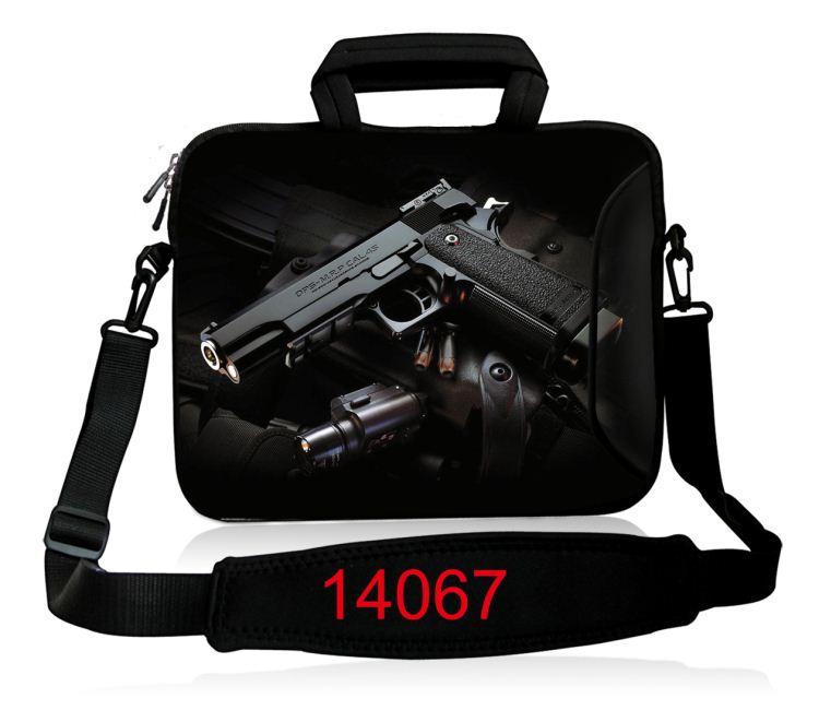 10 12 13.3 14.4 15.6 17 դյույմ Neoprene Laptop Shoulder Bag - Նոթբուքի պարագաներ - Լուսանկար 4