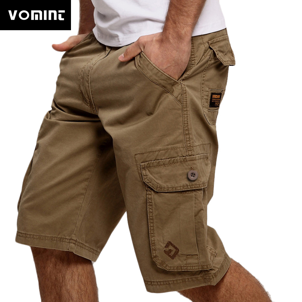 Mens Cargo Shorts Casual Shorts Fashion Pockets Solid Color Army Green Male Loose Work Shorts Plus size  (No belt)|cargo shorts|cargo shorts fashionfashion cargo shorts - AliExpress