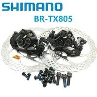 SHIMANO Disc Brake Caliper BR M375 TX805 160mm 180mm Disc Brake Clamps & RT56 Rotor Mountain Bike Line Pulling Disc Brake Clamp