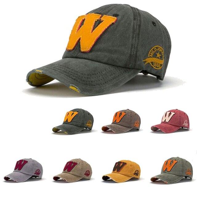 Korean Fashion Letters W Baseball Cap Vintage Denim Casquette Gorras Planas  Summer Sun Hats for Men and Women 2a951e22b21