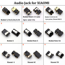 Untuk Xiaomi 4 4C 5X/A1 Redmi 1 1 S 2 2A 3 3 S 3X 4A 4PRO Prime MAX2 Note1 2 3 Note3pro Note4 4X Audio Headphone Jack Socket(China)